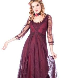 Romantic Nataya Vintage Inspired Lace Dress -Med